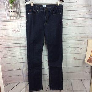 Hudson basic dark wash straight leg jeans 32